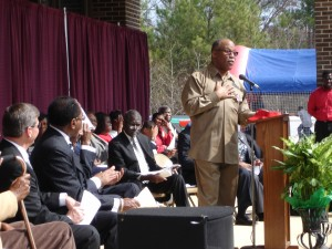 AMEC's Bishop Davis speaks at the Daniel Payne Legacy Village Groundbreaking Ceremony