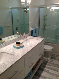 Show the love by updating a guest bathroom. Photo credit: Highlight Homes