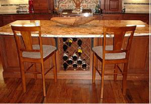 Josey Kitchen Island with Wine Rack