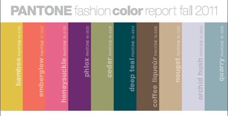 Pantone - THE authority for color - takes a little direction this Fall from the OTHER authority for color, Mother Nature.