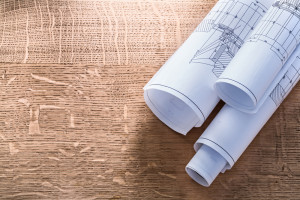 blue prints on wood shutterstock_278957234