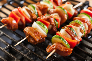 shish kebobs on the grill - shutterstock_249302788