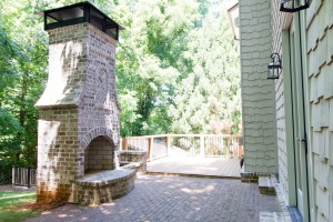 HLH - Inman Drive Brick Patio Hearth Deck - July 2017